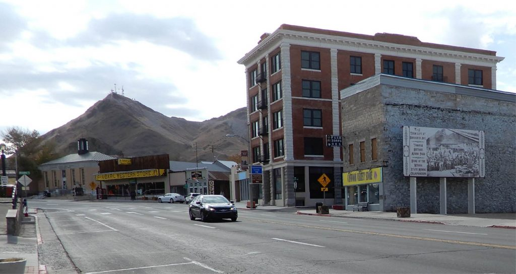Downtown Tonopah, 2019. Photo by Jim Stiles