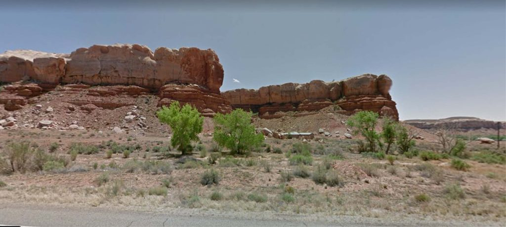 google street view of bluff dwellings lot