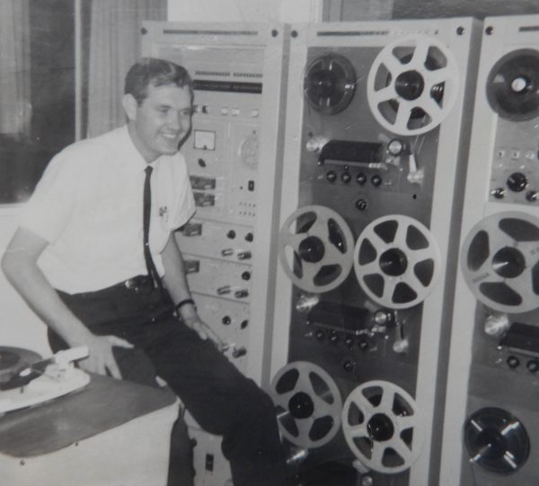 Dee Tranter, early in his broadcasting career. (Thanks to Deeanne Tranter Atwood for this photo.)