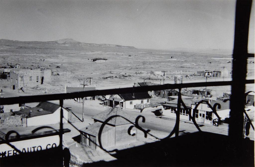 View from a Room at the Goldfield Hotel. Photo by Herb Ringer. 1940s