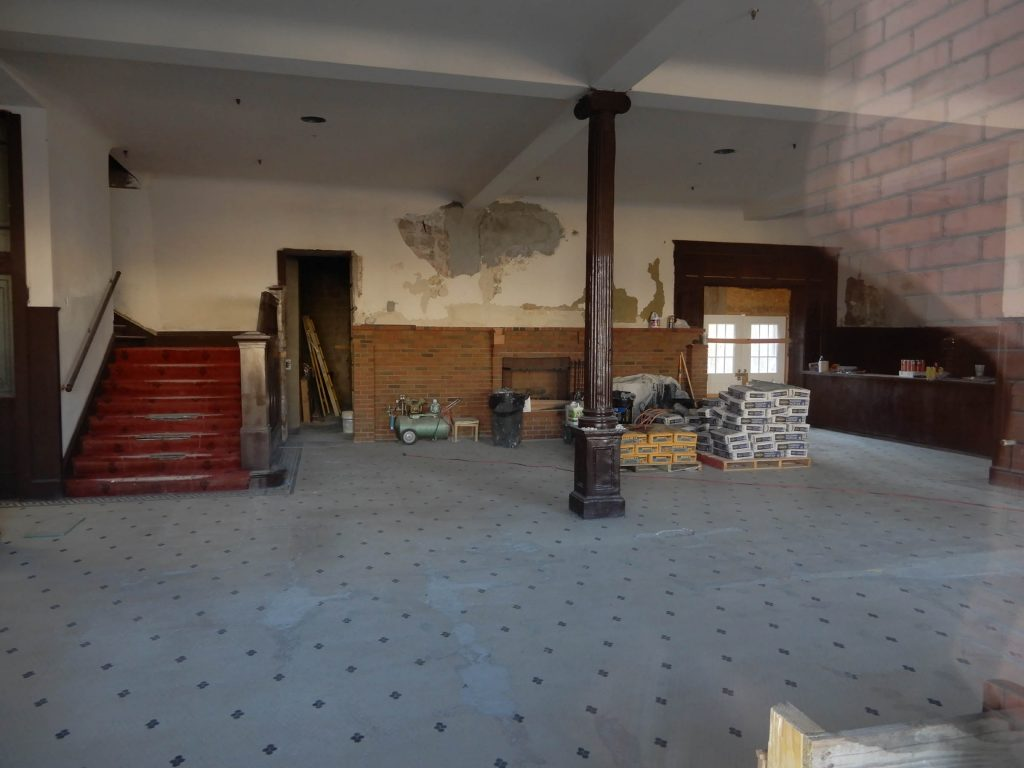 Lobby of the Goldfield Hotel, 2019. Photo by Jim Stiles