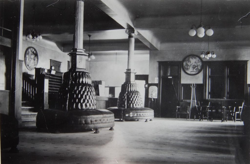 Goldfield Hotel Lobby, 1940s. Photo by Herb Ringer