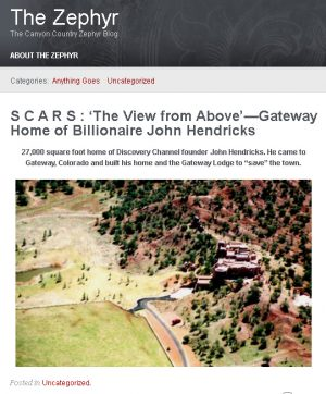 Zephyr Story on Gateway Home