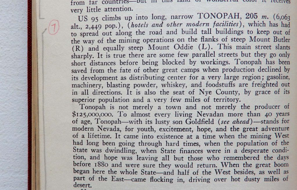 WPA GUIDE Tonopah Nevada 1930s