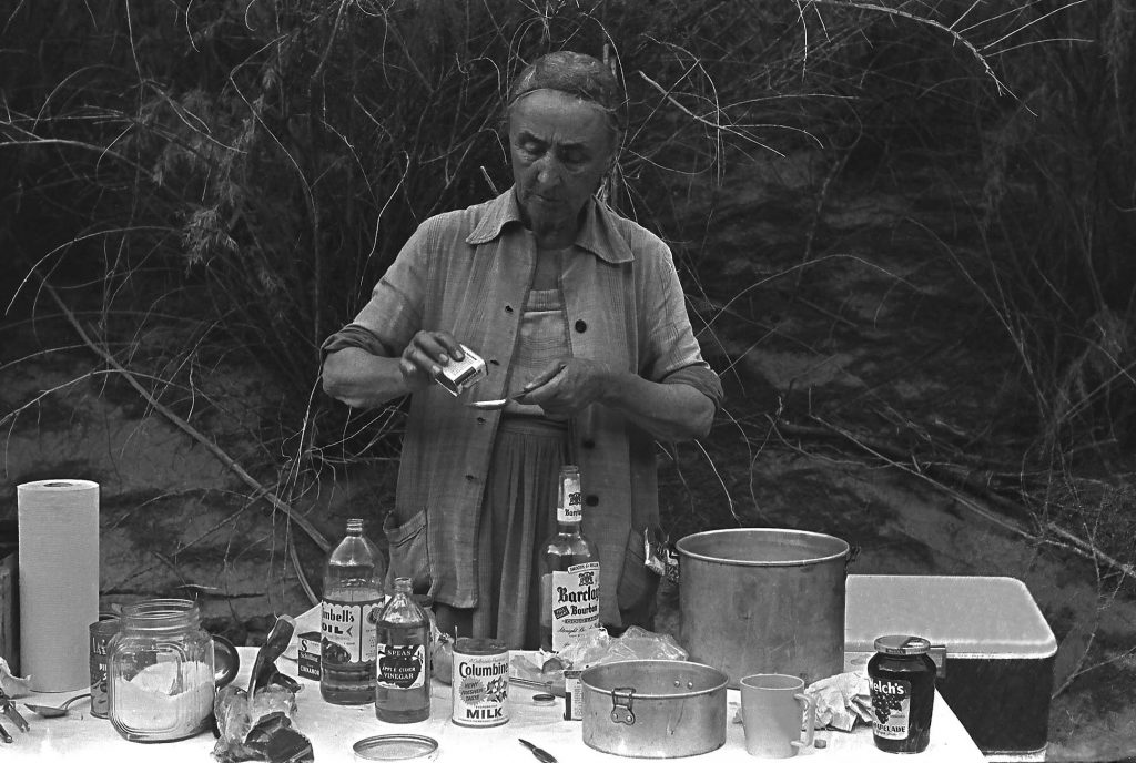 Georgia concocting an adult beverage. (courtesy of the Todd Webb Archives, Portland, Maine USA)