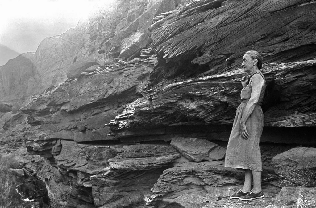 Georgia near warm springs in Dungeon Canyon. (courtesy of the Todd Webb Archives, Portland, Maine USA)