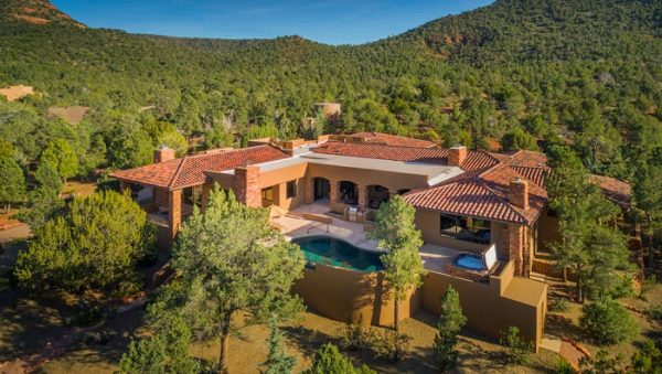 Or this Southwestern-ish, Spanish-y villa (a steal at $3.75 million) in Sedona …