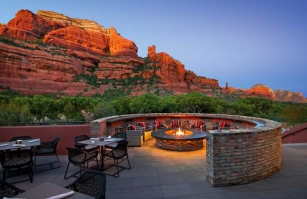Or this (chit-chat under the stars for a privileged few, also in Sedona) …