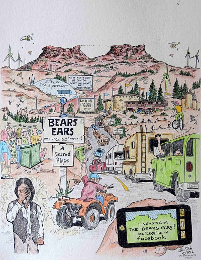 Bears Ears Cartoon by Jim Stiles