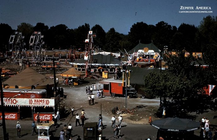 James Stiles Senior photo of Kentucky State Fair 1952 Kodachrome Zephyr America