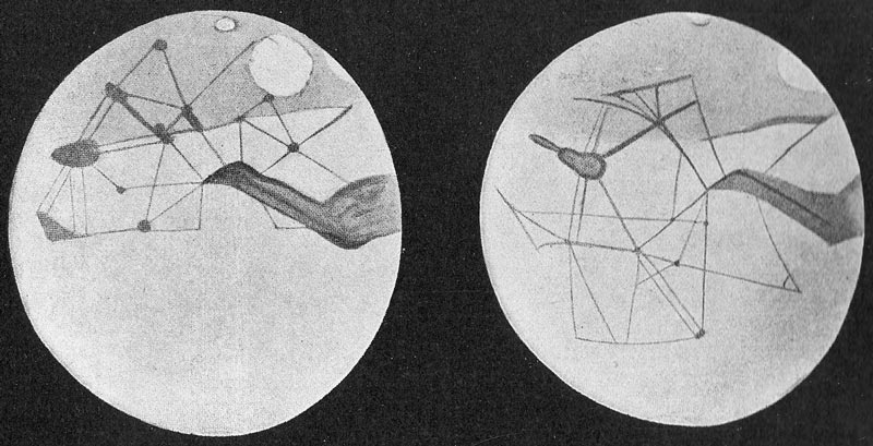 """Percival Lowell's detailed drawings of the """"canals"""" of Mars"""