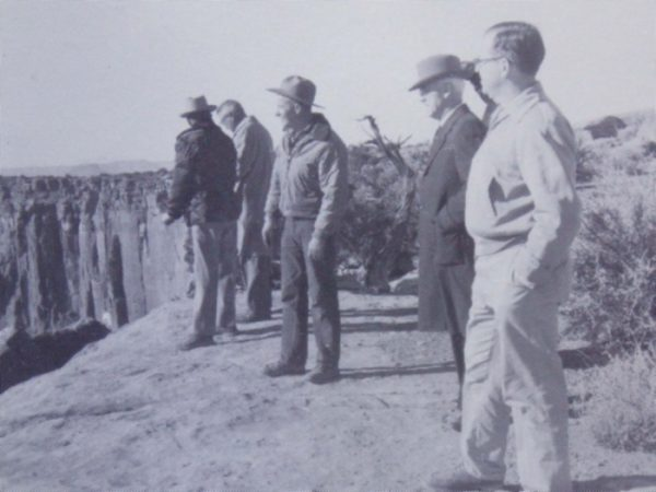Bates Wilson on a fact finding hike with Utah and Federal Personnel at Canyonlands. courtesy of NPS