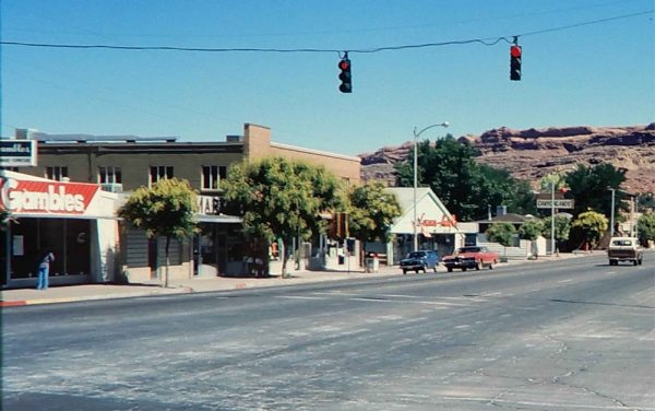 downtown moab july 1980 photo by James Stiles, Sr