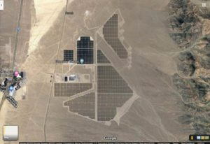 Google aerial of Nevada's Solar One Power Plant