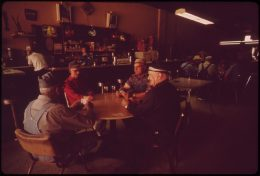 "At the ""Pastime Bar"" in Geneva, Nebraska. May 1973. Photo by Charles ORear"