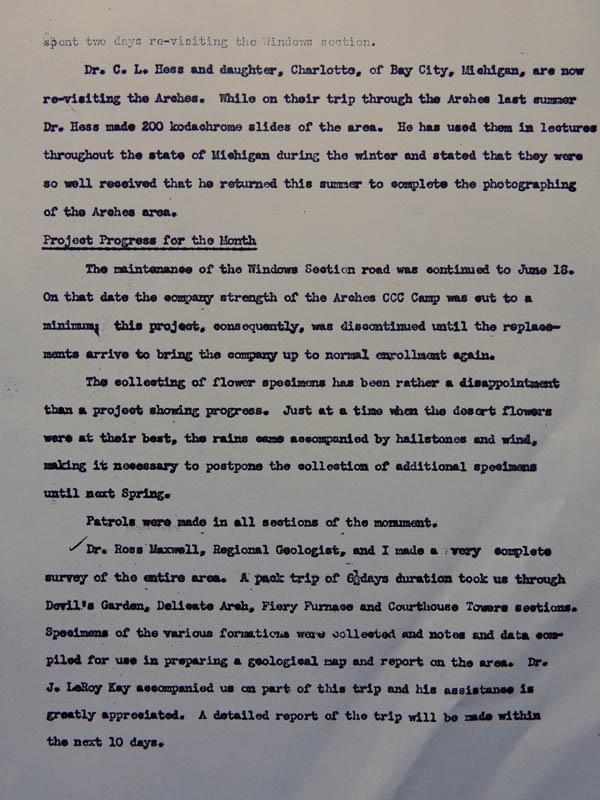 page three of Hank Schmidt's monthly report from June 1941