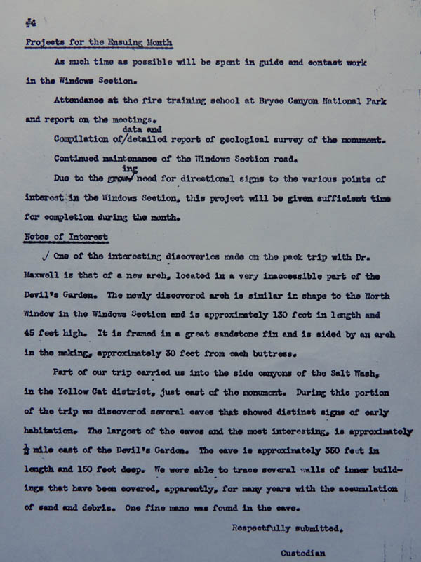 Page four of Hank Schmidt's monthly report for June, 1941