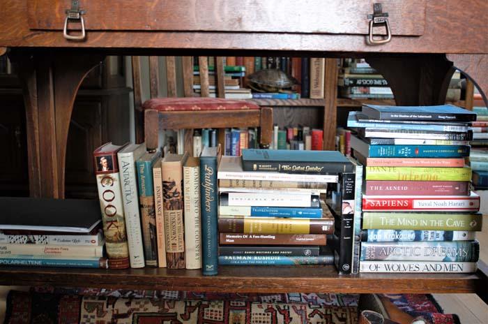 Piles of books. Photo by Damon Falke
