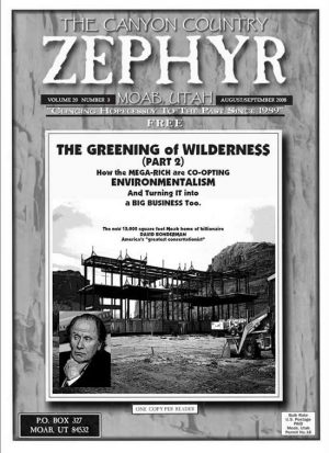 zephyr Greening of Wilderness cover 2008