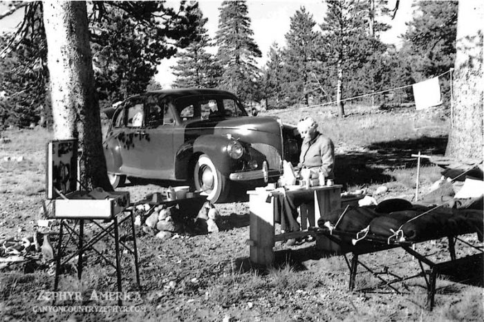 The Ringers Camping in Hope Valley. 1945. Photo by Herb Ringer