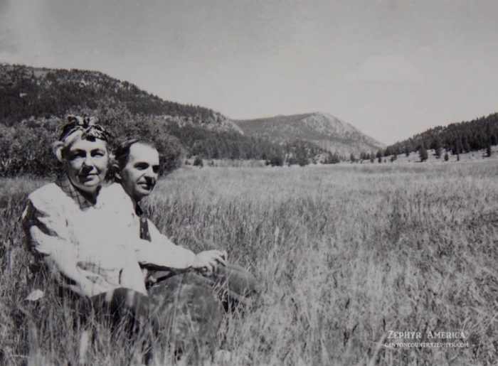 Sadie and Joseph Ringer at Hope Valley, 1945. Photo by Herb Ringer