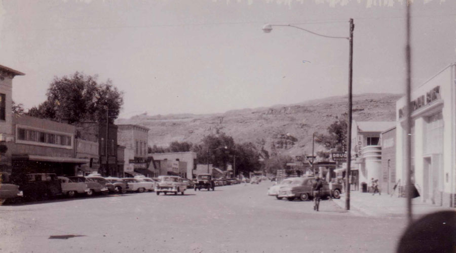 Downtown Moab, 1950s. Photo by Brett Hulen