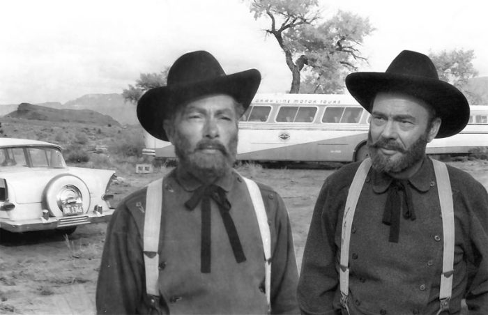 Kenny Ross and John Beal, both as John Wesley Powell