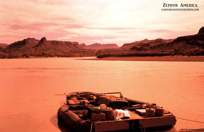 Boat launch on Glen Canyon. October, 1962. Photo by Edna Fridley