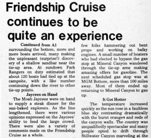 From Bill Davis' article on the Friendship Cruise