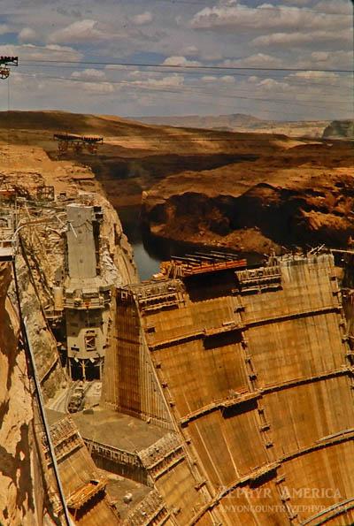 Glen Canyon Dam. May, 1963. Photo by Edna Fridley