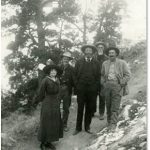 Kolb Brothers photograph of visitors to the South Rim, November, 1912
