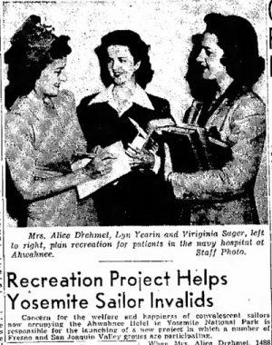 Nov 22, 1943 Headline in the Fresno Bee.