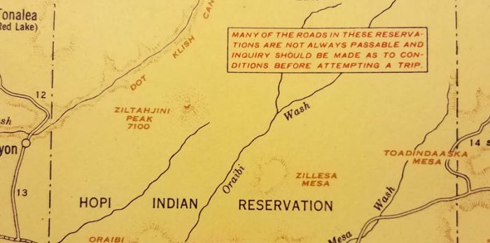 From an old Standard Stations Map of Arizona