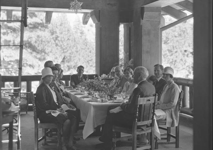 Birthday Party for Stephen Mather at the newly opened Ahwahnee Hotel, hosted by Don Tresidder.