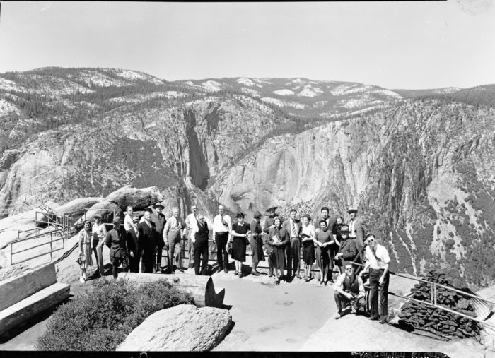 The Naval Affairs Committee at Glacier Point. c/o NPS