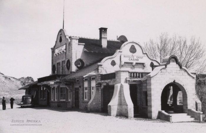 Rhyolite Depot. Photo by Herb Ringer