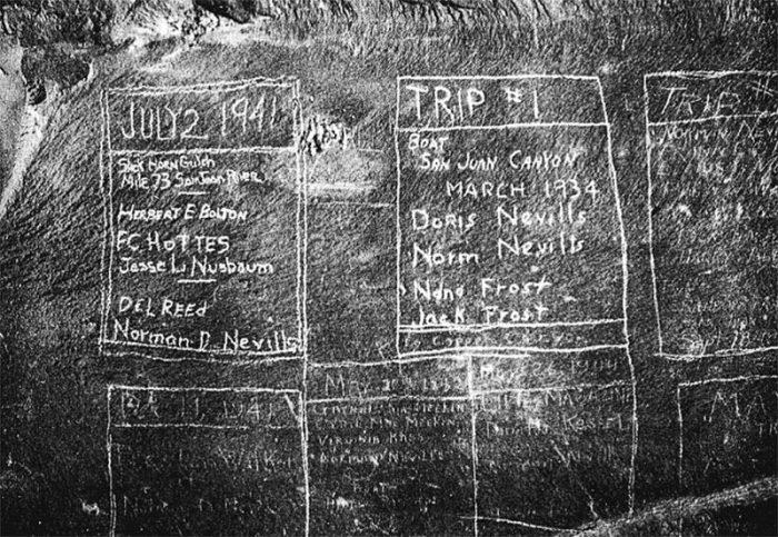 Inscriptions at Slickhorn Gulch