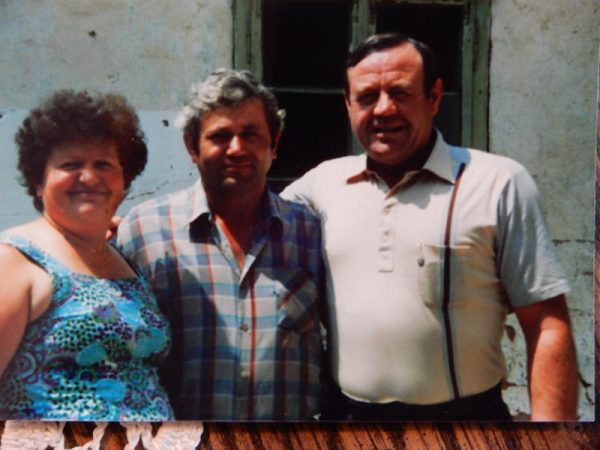Nick and family in Croatia. 1980s