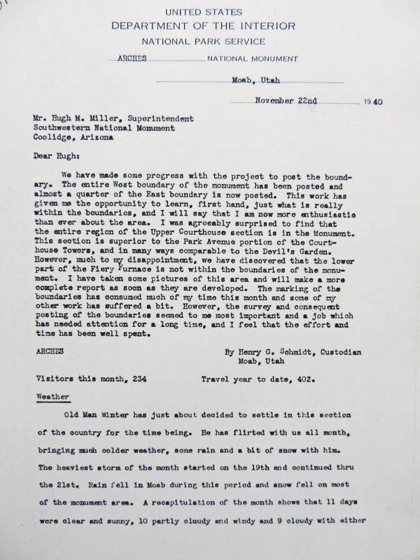 Hank Schmidt's Monthly Report, Page 1