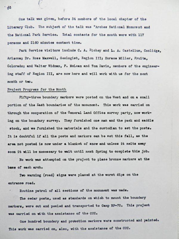 Hank Schmidt's Monthly Report, page 3