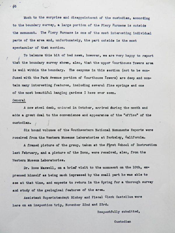 Hank Schmidt's Montly Report, Page 5