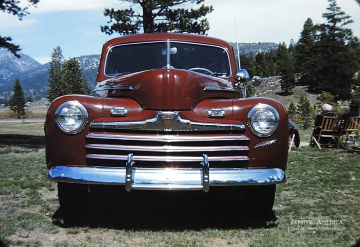 Herb Ringer's Ford Super Deluxe in Hope Valley, California. 1946