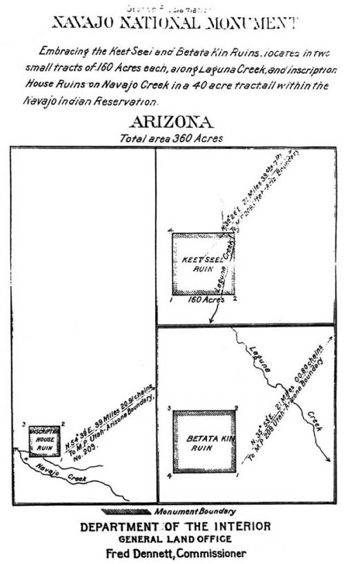 In 1912, President Taft redefined the monument boundaries to encompass only the three most significant cliff dwellings