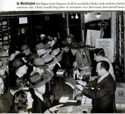 The 1943 Whiskey Shortage. Photo c/o LIFE Magazine