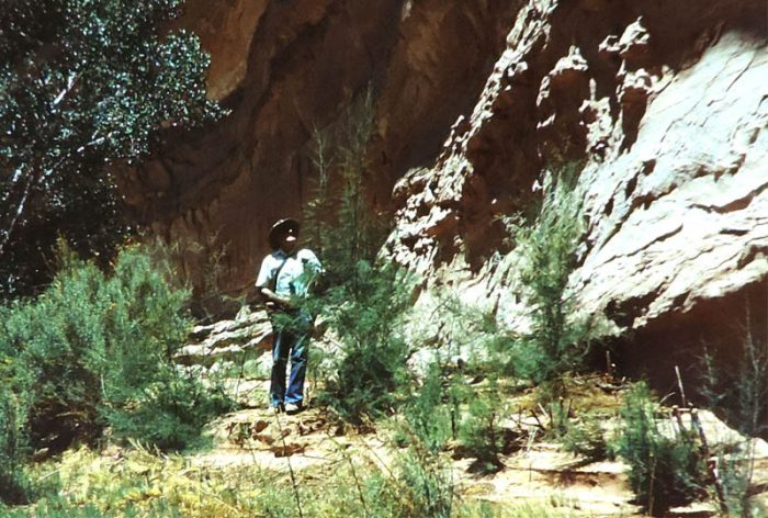 Reuben Scolnik at Horseshoe Canyon. 1987. Photo by Jim Stiles