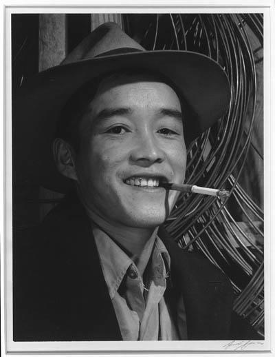 Yonehisa Yamagami, electrician, Photo by Ansel Adams c/o Library of Congress
