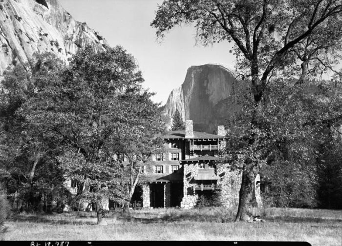 The Ahwahnee Hotel in Yosemite Valley, October 1941. c/o NPS