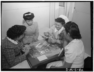 Bridge Game. Photo by Ansel Adams. c/o Library of Congress