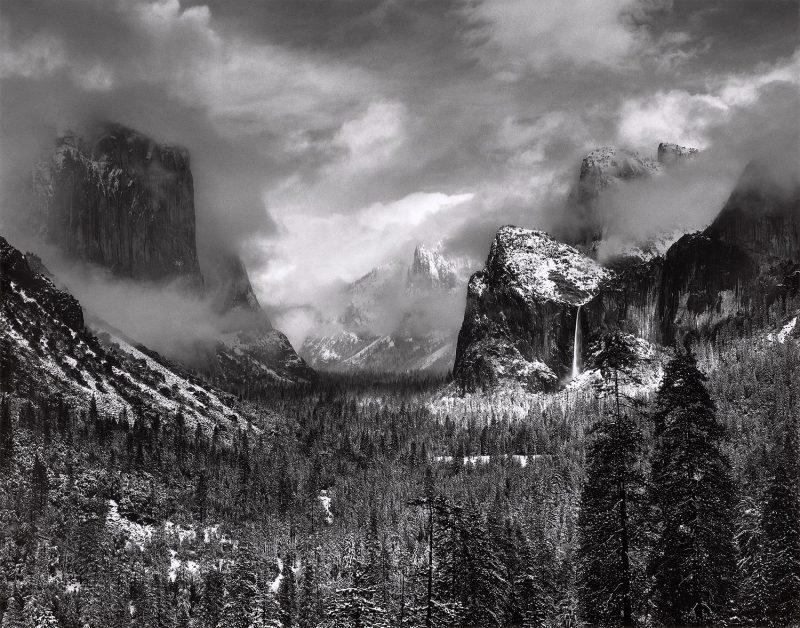 """Clearing Winter Storm, Yosemite National Park."" Ansel Adams, 1937"
