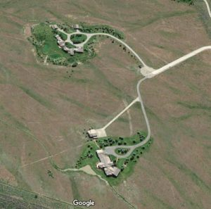 Google Aerial of Jackson, Wyoming trophy homes